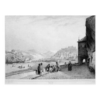 Cartão Postal Salzburg, gravado por Bayot & por Cuvilier, 1840
