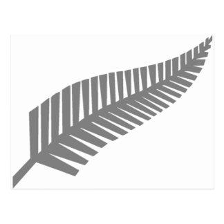 Cartão Postal Samambaia de prata de Nova Zelândia