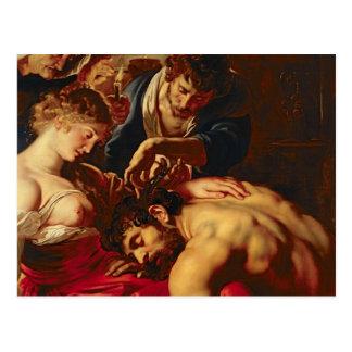 Cartão Postal Samson e Delilah, c.1609