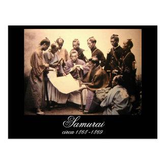 Cartão Postal Samurai cerca de 1868-1869