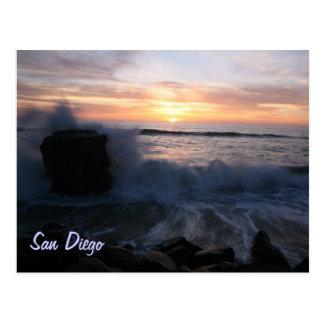 Cartão Postal San Diego acena no por do sol