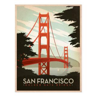 Cartão Postal San Francisco, CA - golden gate bridge