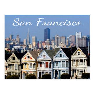 Cartão Postal San Francisco CA pintou estados da skyline das