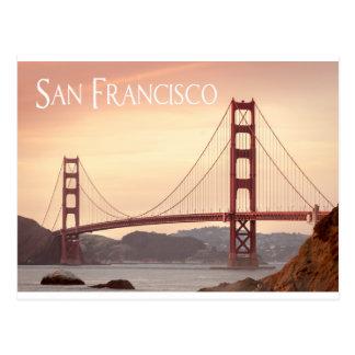 Cartão Postal San Francisco Califórnia golden gate bridge, EUA
