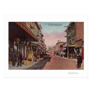 Cartão Postal San Francisco, opinião da estrada de CADirt de