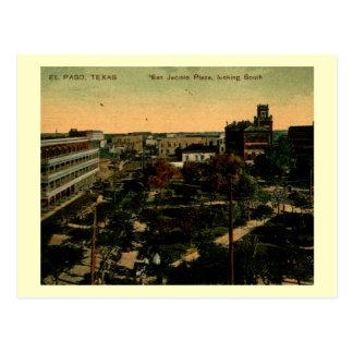 Cartão Postal San Jacinto Plaze, vintage de El Paso, Texas