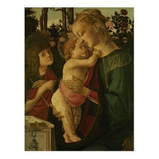 Cartão Postal Sandro Botticelli: Madonna e a criança com santo