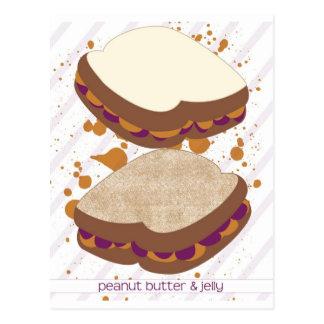 Cartão Postal Sanduíches de PB&J