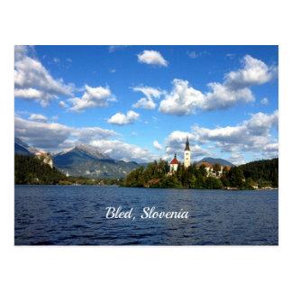 Cartão Postal Sangrado, Slovenia--fotografia da paisagem