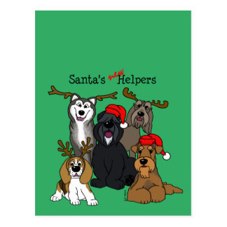 Cartão Postal Santas new helpers