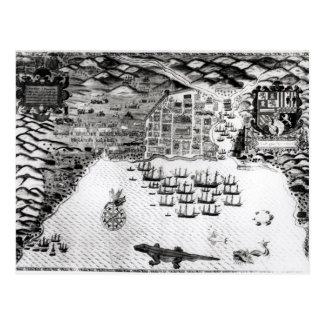 Cartão Postal Santiago, Cabo Verde, 1589