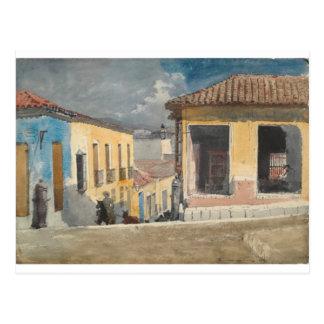 Cartão Postal Santiago de Cuba, cena da rua por Winslow Homer