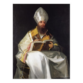 Cartão Postal Santo Ambrose de Francisco Goya-