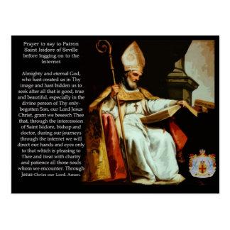 Cartão Postal Santo Isidoro de Sevilha