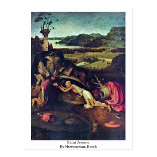 Cartão Postal Santo Jerome. Por Hieronymus Bosch
