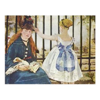 Cartão Postal Santo-Lazare de Gare - Edouard Monet