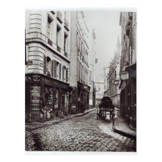 Cartão Postal Santo-Severin da rua