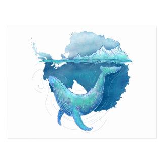 Cartão Postal Santuário da baleia do oceano do sul
