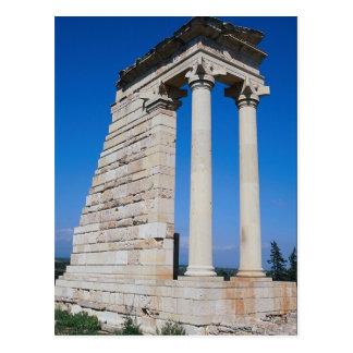 Cartão Postal Santuário de Apollo, parte do si archaeological