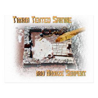 Cartão Postal Santuário de Timna e serpente do bronze