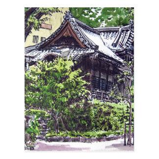 Cartão Postal Santuário velho em Hamacho, Tokyo