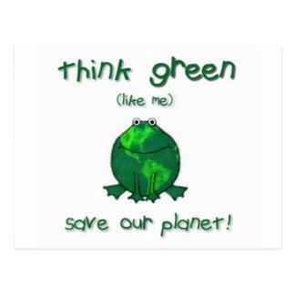 Cartão Postal Sapo ambiental do Dia da Terra