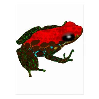 Cartão Postal Sapo do dardo da floresta húmida