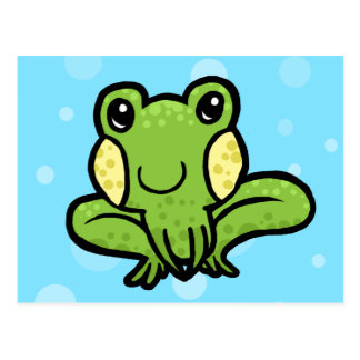 Cartão Postal sapo salpicado do verde dos desenhos animados