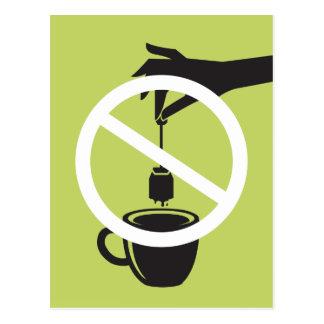 Cartão Postal Saquinho de chá