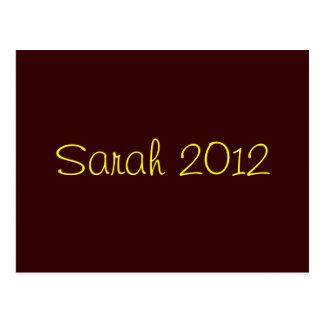 Cartão Postal Sarah 2012