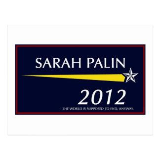 Cartão Postal Sarah Palin 2012 engraçado