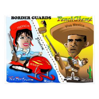 Cartão Postal Sarah Palin e patrulha fronteiriça de Obama