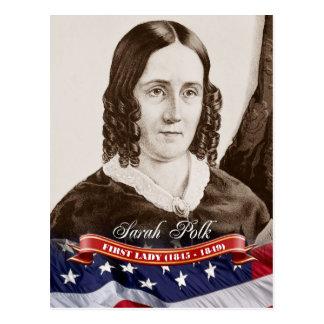 Cartão Postal Sarah Polk, primeira senhora dos E.U.