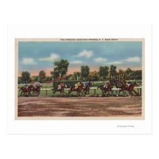 Cartão Postal Saratoga Springs, NY - cena da trilha de corrida
