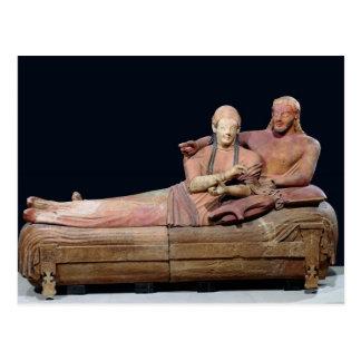 Cartão Postal Sarcófago de um casal, 525-500 BC