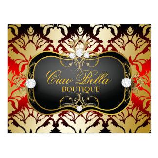 Cartão Postal Sass da cereja do Ciao Bella de 311 negros como o