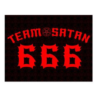 Cartão Postal Satã 666 da equipe