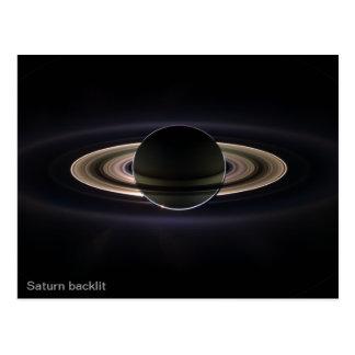 Cartão Postal Saturn backlit