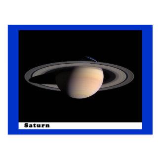 Cartão Postal Saturn com anéis