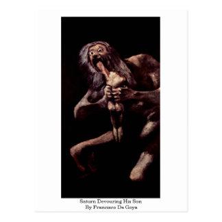 Cartão Postal Saturn que devora seu filho por Francisco De Goya