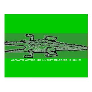 Cartão Postal Saurian celta (verde do croco)