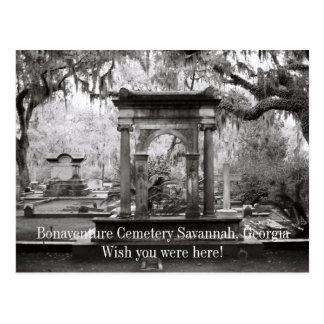 Cartão Postal Savana do cemitério de Bonaventure