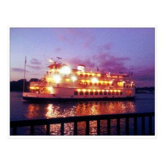 Cartão Postal Savana Geórgia do barco de rio