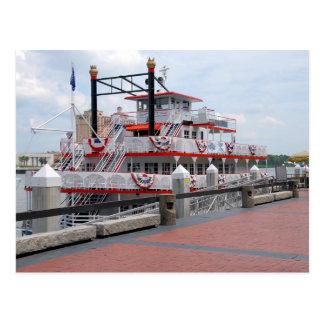 Cartão Postal Savana Geórgia do Riverboat