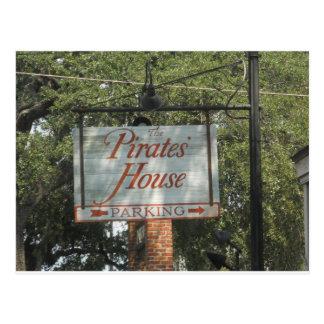Cartão Postal Savana Geórgia do sinal do restaurante da casa dos