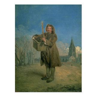 Cartão Postal Savoyard com uma marmota, 1715-16
