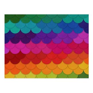 Cartão Postal Scallops do arco-íris
