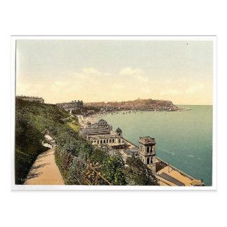 Cartão Postal Scarborough, baía sul, pH raro de Yorkshire,