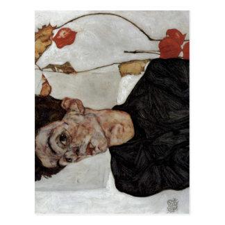 Cartão Postal Schiele, Egon Selbstportr? mit Lampionfr de t?