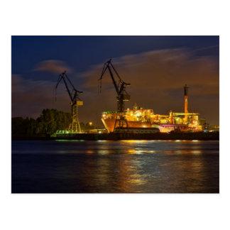 Cartão Postal Schiff no Hamburger Werft